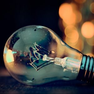 light bulb, lights, bokeh